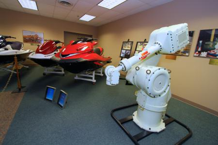 Robotics built in this same facility help make intense jobs easier.