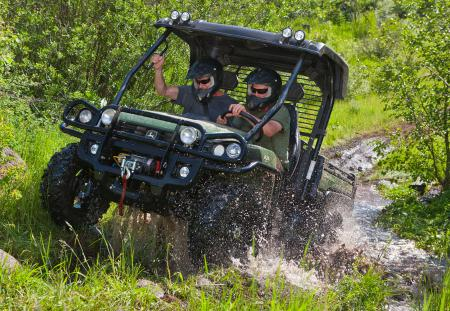John Deere seriously upped the fun factor with the Gator XUV 825i 4x4.