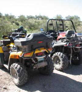 Standard ATVs require auxiliary storage to pack a lunch or desert gear.