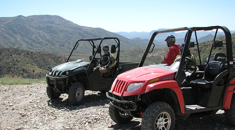 Yamahas Rhino and Arctic Cats Prowler are ideally suited to desert riding.