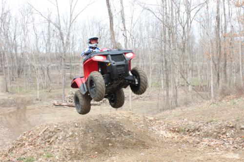 2011 polaris sportsman 500 ho review atv 2011 polaris sportsman 500 ho this is clearly not what polaris built the sportsman 500 to do but its plush suspension handles big drops very well sciox Gallery