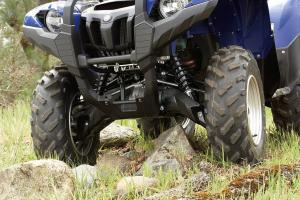 WideArc front suspension provides loads of usable ground clearance.