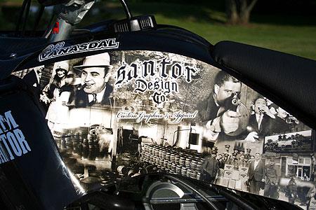 Here's the custom 'Bootlegger' graphics kit from Santor Design Co.