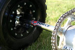 The G-Force axle increased stance by four inches, while the Hiper wheels add style and strength.
