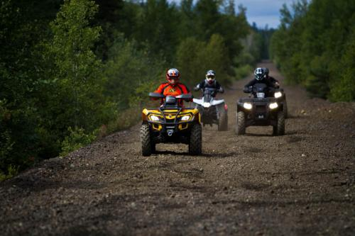 ATVing on a railbed near Sudbury, Ontario