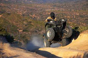 Even in high altitude, the Grizzly 550 is a powerful climber.