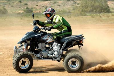 Aggressive style, 52.4hp and a low price are the major advantages of the TE450 Rapier.