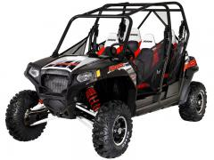 2012 Polaris RZR 4 800 EPS Black-White-Red