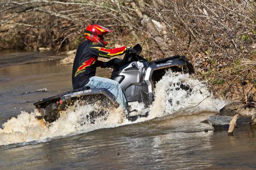 2012 Can-Am Outlander 1000 XT Water Crossing