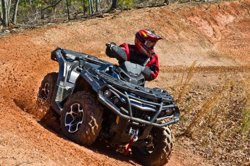2012 Can-Am Outlander 1000 XT Cornering