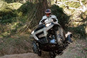 Climbing is not an issue for this powerful Kawasaki.