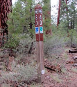 East Fort Rock Trail System Trail Marker