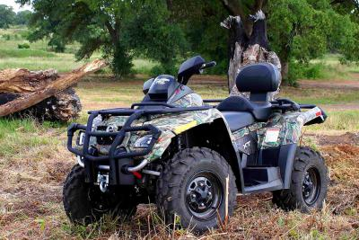 The XT version of the Outlander MAX 500 comes in yellow, red, black and camo.