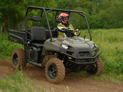 New Ranger styling gives the UTV a brawny, rugged look.
