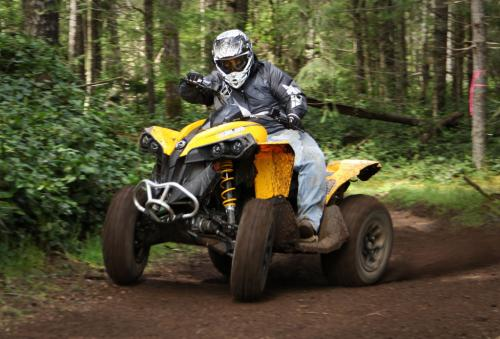 2013 Can-Am Renegade 500 Action Front Left