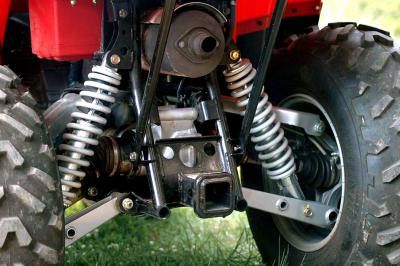 The independent rear suspension enhances technical trail riding.