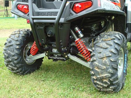 At 60 inches wide, the RZR S offers a very stable platform.
