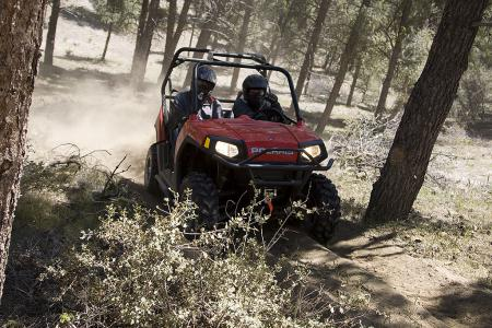 The ability to legally ride on most trails is unique to the RZR.