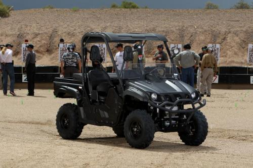 Yamaha Rhino Tactical Black at Shooting Range