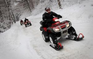 Winter ATV Riding in Parry Sound