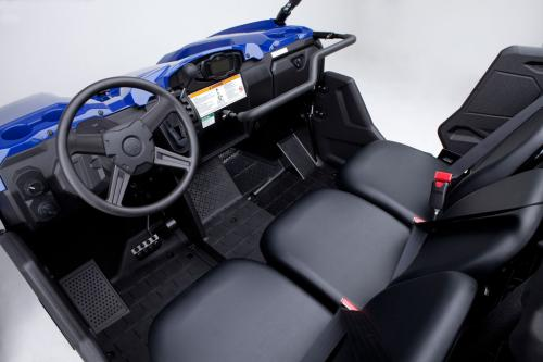 2014 Yamaha Viking 700 Interior Cabin Moved The Middle Seat Slightly Rearward To Give Everybody A Little More Elbow Room