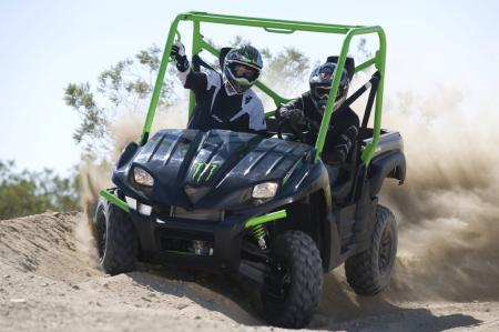 The Teryx Sport Monster Energy features upgraded suspension components and a very nice black and green paint scheme.