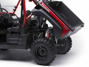 Gas-assisted tilting cargo bed is now standard across the Teryx line.