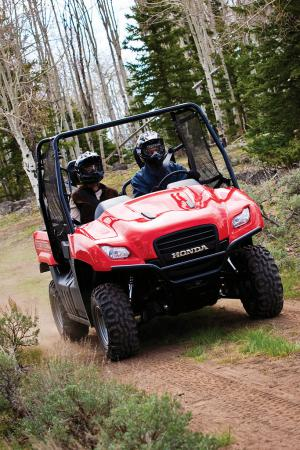 At 64-inches wide, the Big Red should be plenty stable on the trails.