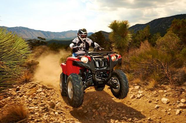 2014 Yamaha Grizzly 700 EPS Action Red Wheelie