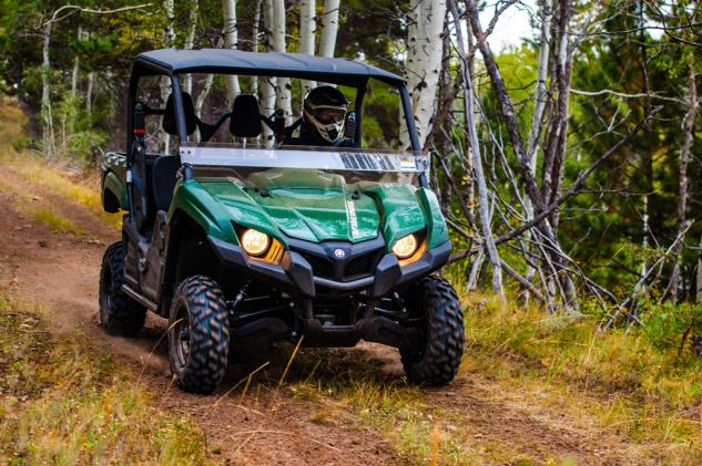 2014 Yamaha Viking 700 Action Green