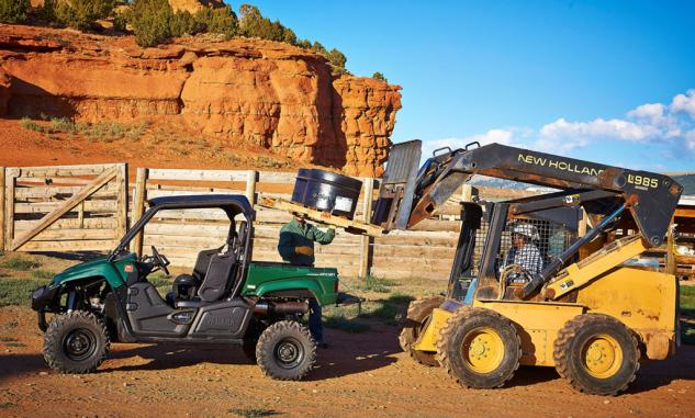 2014 Yamaha Viking 700 Working If You Are Loading Up The Or Any Other UTV To Its Capacity Power Steering Is A Very Welcome Feature