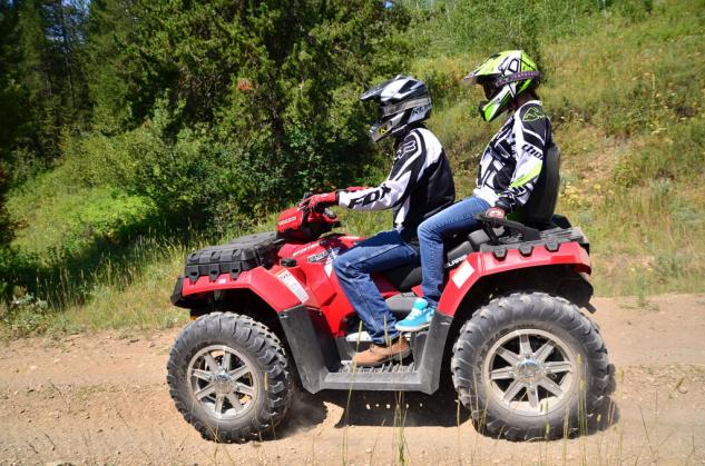 2013 Polaris Sportsman Touring 850 Action Left Side