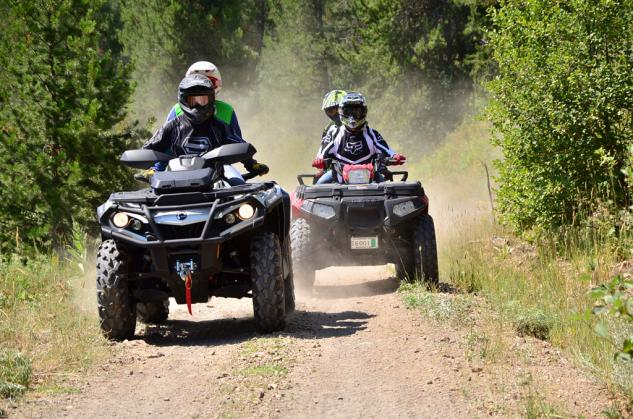 2013 Two-Up ATV Shootout Action