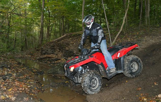 2014 Honda Rancher Action Standing