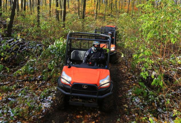 on the trails, the Kubota RTV X-Series is at home on the jobsite