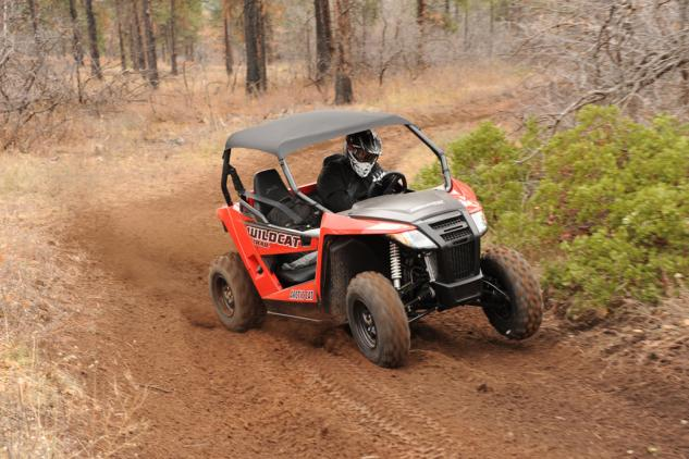 2014 Arctic Cat Wildcat 700 Trail Action Cornering