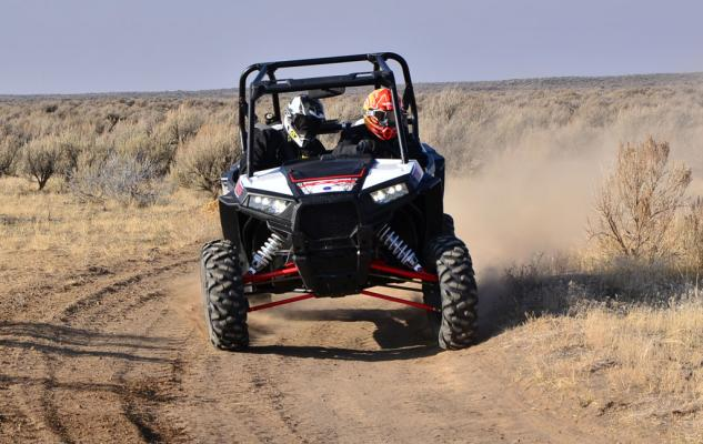 2014 Polaris RZR XP 1000 Action Cornering