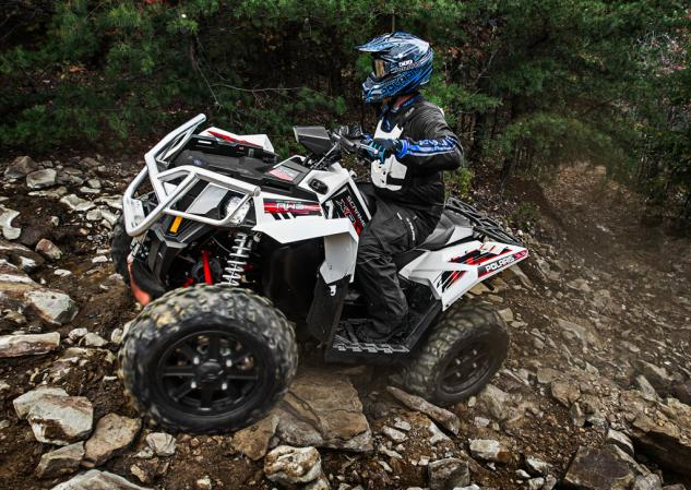 2014 Polaris Scrambler 1000 Action Rocks
