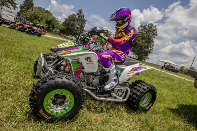 Anna Byrd TRX450R Action