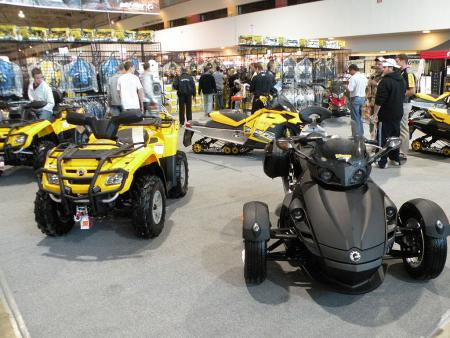 ATVs, snowmobiles and a Spyder from BRP.