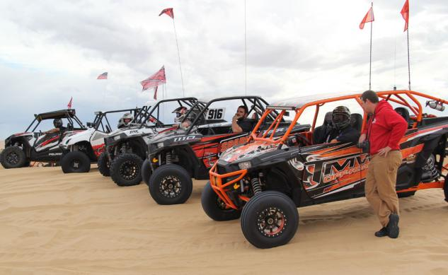 2014 UTV Industry Ride RZRs in Line