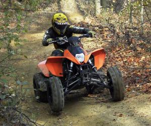 Seemingly everything about KTM's four-wheeler was designed with racing in mind.