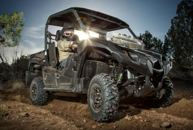 2014 Yamaha Viking Tactical Black Action Front