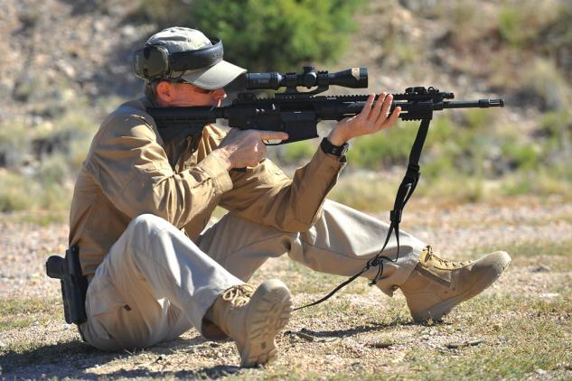 Gunsite Academy Rifle Stance 6