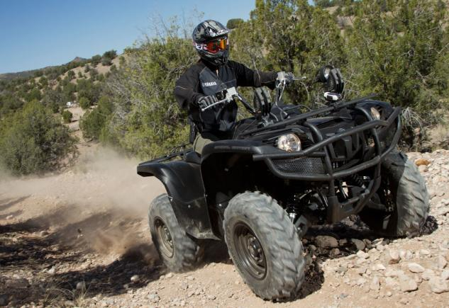 2014 Yamaha Grizzly 700 Tactical Black Action Front