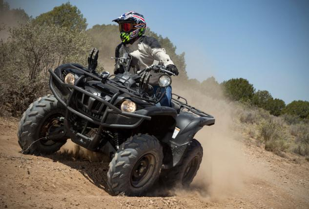2014 Yamaha Grizzly 700 Tactical Black Action SR Turn