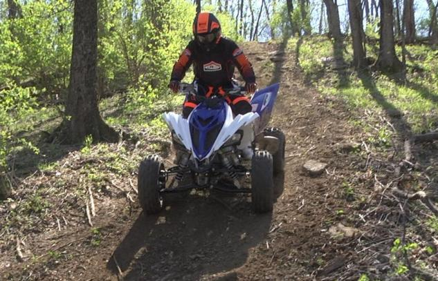 2014 Yamaha Raptor 700 Front Action