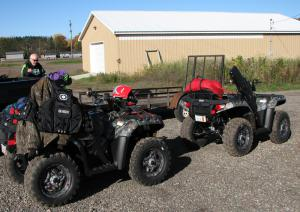 Polaris composite racks with ample tie down locations made packing a snap.