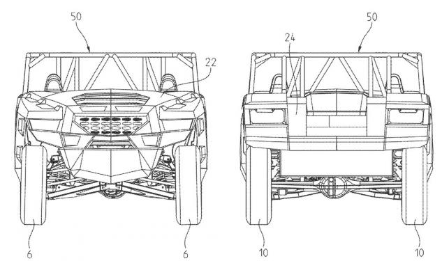 Polaris Utility Patent Front and Rear View