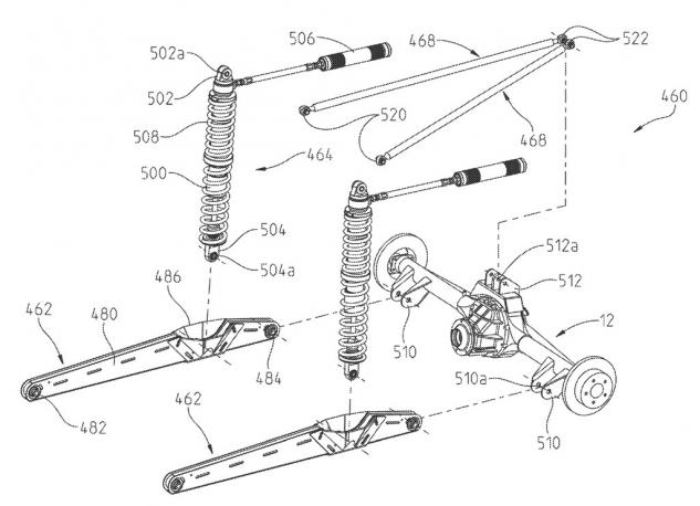 Polaris Utility Patent Rear Suspension